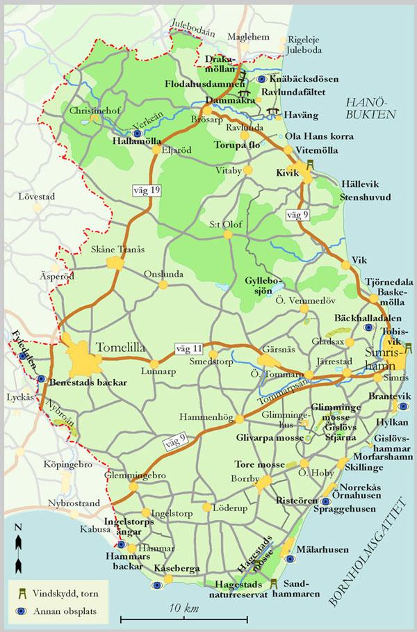 karta över österlen Österlen karta över österlen